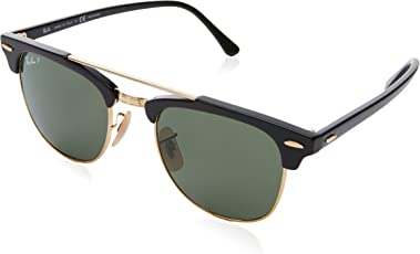 Ray-Ban Polarized Browline/Clubmaster Unisex Sunglasses - (0RB3816901/5851|50|Crystal Green Polarized Color)