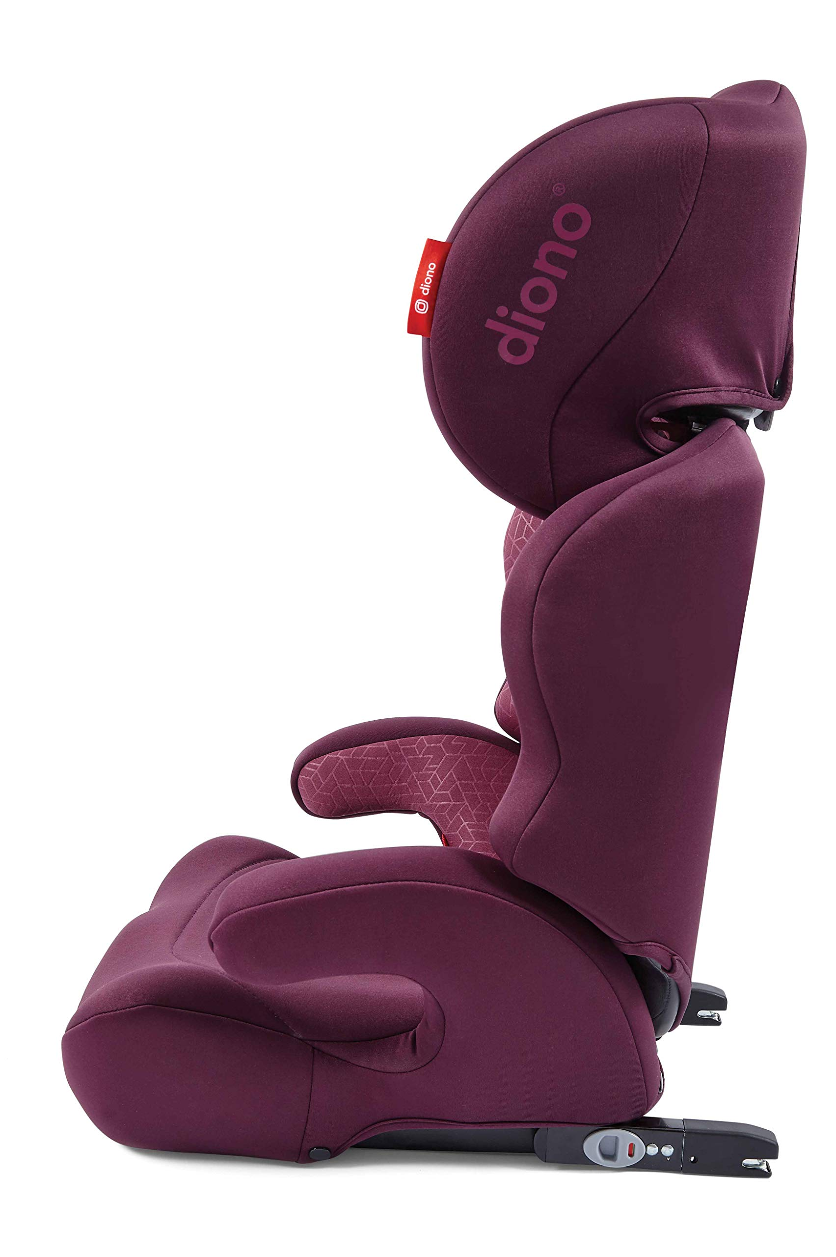 Diono Everett NXT Fix Highback Booster Seat - 7 Position Adjustable Headrest, Group 2/3 (15 - 36 kg and Up to 160 cm In Height), Approx. 4-12 Years, Plum Diono Designed to grow: group 2/3 car seat is suitable from 18kg - 50kg, approx. 4 to 12 years old. The 7-position adjustable headrest can be altered using the handle on the back of the seat Superior safety: cushioned side impact protection has been engineered and tested to the highest standards. The ergonomic design includes extra padding to provide comfort and security as a child grows Universal connectivity: parents can install the seat using the vehicle seatbelt or use the integrated rigid latch connectors that anchor the seat to the car allowing the child to buckle themselves in 11