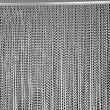 EBTOOLS - Cortina de Aluminio para Puerta o Ventana, 90 x 214,5 cm, con Cadena de Metal de Aluminio, para Control de Insectos y Mosquitos, Color Negro