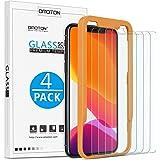 OMOTON Verre Trempé pour iPhone 11 Pro/ X/ XS Film Protection Ecran [Kit Installation Offert] Protecteur Anti Rayures, Facile