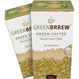 Greenbrrew Natural Green Coffee Beans Extract For Weight Loss - 20 Sachets (60G X Pack Of 2)