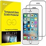 JETech Schutzfolie für iPhone SE, iPhone 5s und iPhone 5, Gehärtetem Glas Displayschutzfolie, 2 Stück