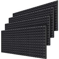 Pannelli in schiuma acustica, confezione da 24, 40,5 x 30,5 x 5 cm, piramide di schiuma da parete fonoassorbente e…