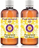 Deve Herbes Pure Almond Oil (Prunus dulcis) Therapeutic Grade Cold Pressed 100ml (Pack of Two)