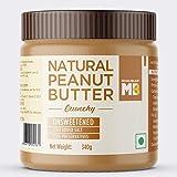 MuscleBlaze Natural Peanut Butter, Crunchy, Unsweetened, 340g