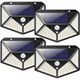 nuosife Solare per Esterni, Applique da Esterno, Luce Solare da Esterno, 100 LED, 3 Modalità di Lavoro, Illuminazione a 270 °
