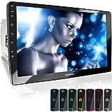 "XOMAX XM-2V1004 Autoradio mit verstellbarem XXL Touchscreen Bildschirm (10"" / 25 cm) I Mirrorlink I Bluetooth I Anschlüsse für externes Mikrofon und Rückfahrkamera I RDS I USB I 2 DIN"