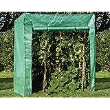 Flower Pot Cover Hinterhof Flower Shelter ZAQ Tomaten tomatenhaus Outdoor Garden Mini Gew/ächshaus mit wei/ßer Abdeckung und T/ür Grow House foliengew/ächsh/äuser
