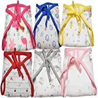 TotzTouch Softcare Premium Cotton Cloth Reusable Wide Padded Baby Nappy Age 0 to 3 Months (Pack of 6) (Children: XS)