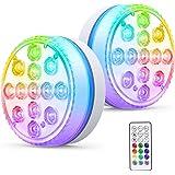Smarich Unterwasser Licht, IP68 Wasserdichtes Poolbeleuchtung mit RF Fernbedienung, RGB Multi Farbwechsel LED Unterwasserlich