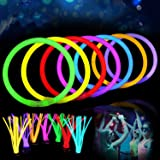 Party Hour Premium Glow Stick in The Dark Lumi Sticks, Light Up Bracelets, Headbands, Necklace, Wristbands Toys for Adult and