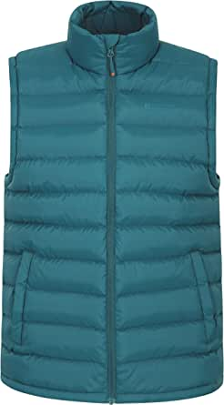 Mountain Warehouse Seasons Mens Padded Gilet - Water Resistant Gilet, Body Warmer, Lightweight Jacket, Easy to Store Coat - for Winter Travelling, Walking