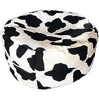 Pouf Motif Vache Enfant Ø 50cm fabriqué en France