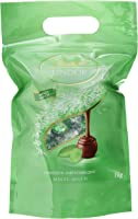Lindt Lindor Beutel Minze Milch, gefüllt mit einzeln verpackten Kugeln mit einer zartschmelzenden Füllung, 1er Pack (1 x...