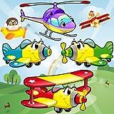 Jeu d'avion pour les enfants : découvrir les véhicules aériens ! Jeux éducatifs avec Puzzle - GRATUIT