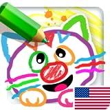 Malen für Kinder! Lernen zu zeichnen im Kindergarten Lernen Spiele für Kleine Kinder, Baby kostenlos! Lernspiele Vorschule & Kleinkinder ab 2 3 4 5 jahre! Malbuch Kinder Spiel Gratis für Mädchen und Jungen!