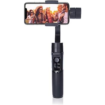Rollei Smartphone Gimbal Steady Butler Mobile - 3 Achsen Schwebestativ (Stabilisator/Steadycam) für Smartphones mit integrierter Power Bank und. App mit vielen Funktionen