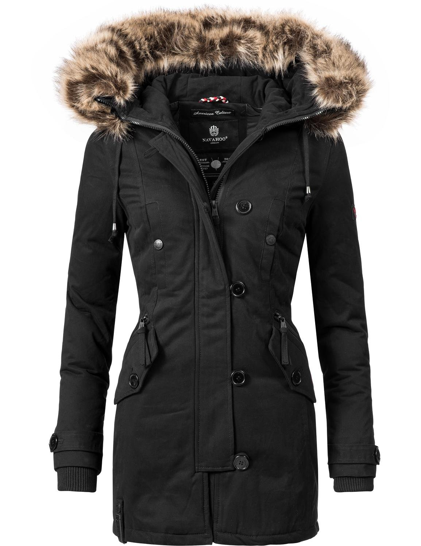 Navahoo Damen Baumwoll Winterparka Winterjacke Pauline (vegan hergestellt) 7 Farben XS-XXL