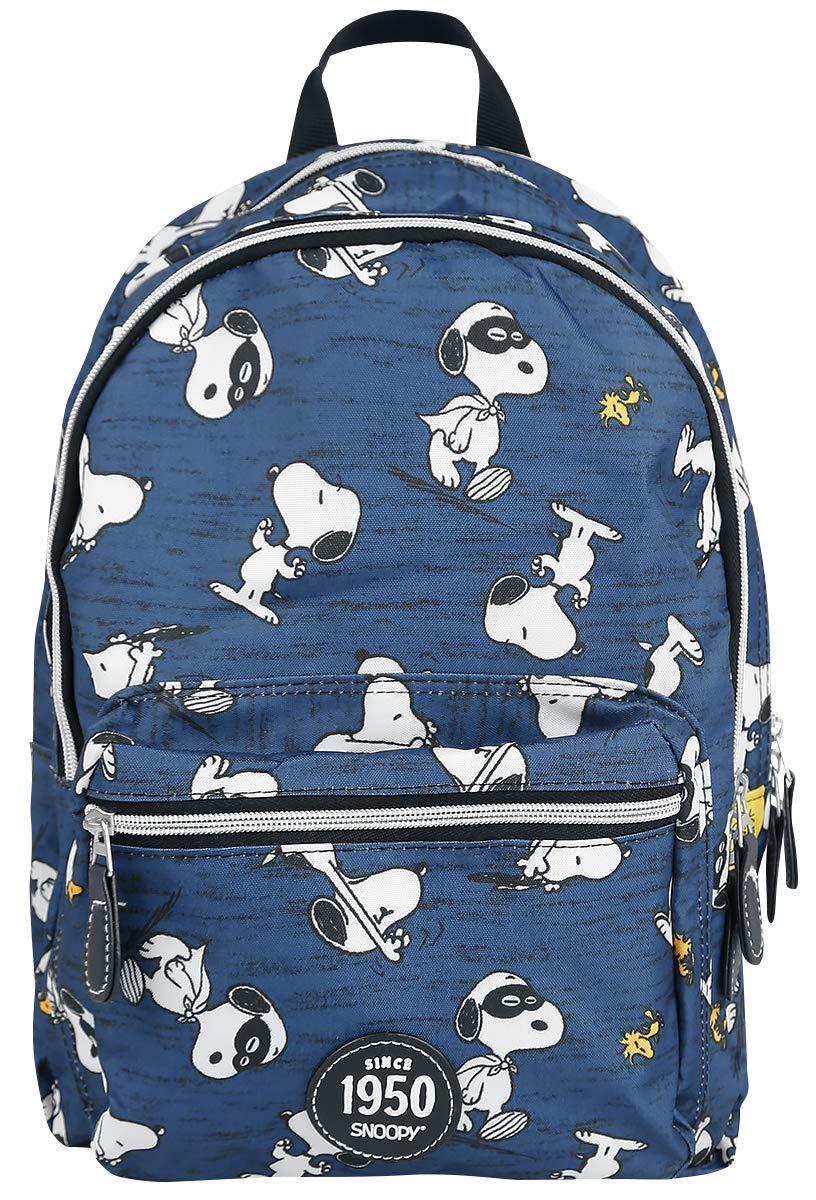 71QNa61lw9L - Peanuts Snoopy Mochila Azul
