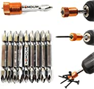 Homdum® Magnet Driver Bit - Double Ended/Anti-Slip Screwdriver Insert Bit with Magnetic Screw Holder with self-Locking Cups