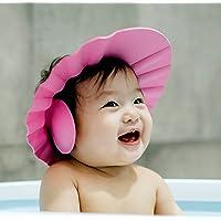 Kuber Industries Soft Adjustable Visor Hat Safe Shampoo Shower Bathing Protection Bath Cap for Toddler, Baby, Kids…