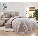 Compressed Two-Sided Comforter 4 Pieces Set, Single Size, Silver By Moon, Microfiber