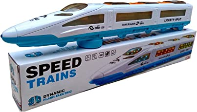 Yeehaw Electric Bullet Train Toy with Sound and Flashing Lights for Kids Chirdren