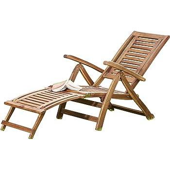 Thompson U0026 Morgan Acacia Hardwood Folding Steamer Deckchair Pre Treated  Garden Furniture Adjustable Backrest U0026