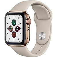 Apple Watch Series 5 (GPS + Cellular, 40 mm) Edelstahlgehäuse Gold - Sportarmband Stein