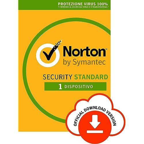Norton Security Standard Antivirus Software 2019   1 Dispositivo (Licenza di 1 anno)   Compatibile con Mac, Windows, iOS e Android   Codice d'attivazione via email