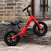 """SYGA 12"""" 2-6 Year Baby Balance Bike with Adjustable seat Feature_Red"""