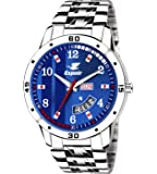 Espoir Analog Stainless Steel Day and Date Blue Dial Men's Watch - SamBrock