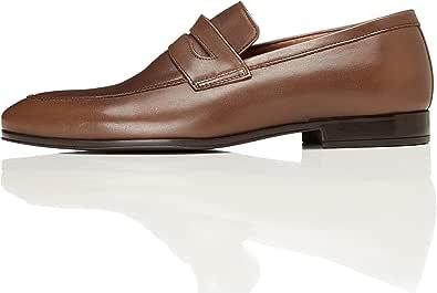 Marchio Amazon - find. Leather Formal, Mocassini Uomo in Pelle