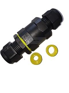 2 St/ück Kabelanschlussdose f/ür den Au/ßenbereich IP68 im Au/ßenbereich Anschlussdose wasserdichtes Kabel Chestele 3-poliger Kabelschnellverbinder