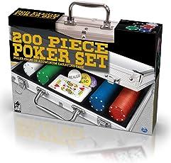 Spin Master SPINMASTER 6036777Poker-Set in Aluminium Fall (200Teile)