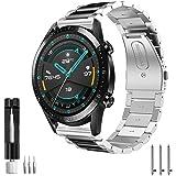 Aimtel Armband kompatibelt med Huawei Watch GT 2 armband 46 mm/Huawei GT 2e/GT 2 Pro/GT Active/Classic/Sport, 22 mm rostfritt