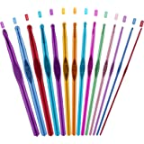 PROGARMENTS 14Pcs Aiguilles à Crochet Set, Crochet Hook Set Multicolore Poignée en Aluminium Tricot Outils pour Débutants et