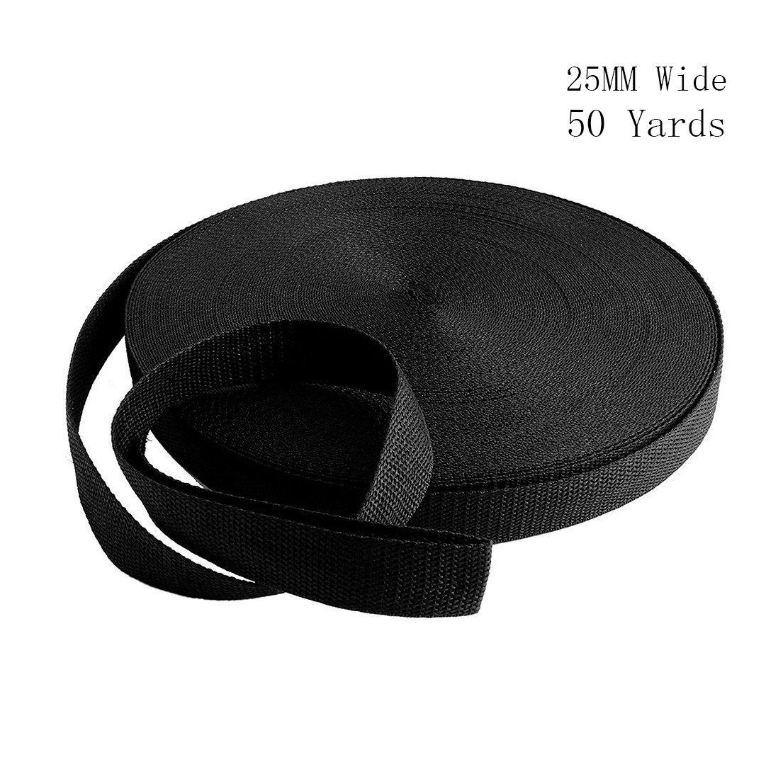71QPgZVraVL - RETON 50 Yards Black Nylon Heavy Polypro Webbing Strap (25mm)