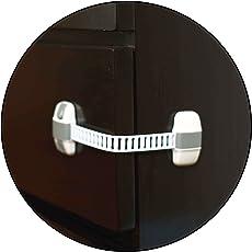 Safe-O-Kid High Quality Adjustable Medium Multi-Purpose Child Safety Lock, White/Grey