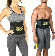 Sweet Sweat Waist Trimmer Men's, Women's Shapewear (Pack of 2)