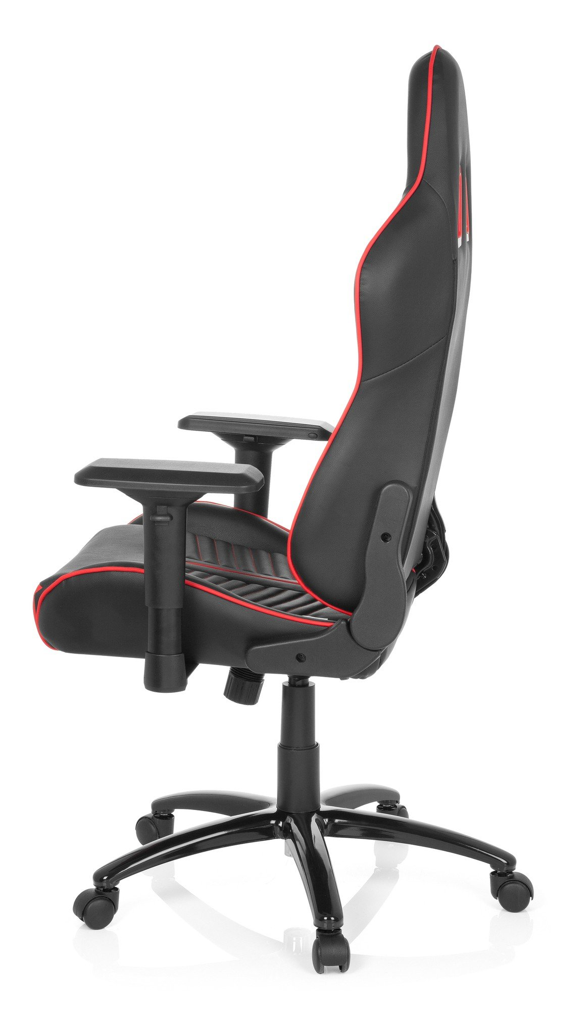 hjh OFFICE 729240 Silla Gaming League Pro Piel sintética Negro/Rojo Silla escritorioe Metal Estable, Silla de Oficina, Silla Racing