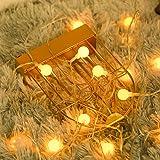 Fulighture Guirlande lumineuse, 80 LED Blanc chaud, 9 m Alimentation par USB, étanche IP65, 2700K, lumière d'ambiance idéale