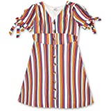 فستان منسوج من الأمام من Speechless للفتيات كبير 7-16 زر