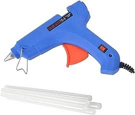 GLUN 80W Hot Melt Glue Gun with on Off Switch, Indicator and 5 Sticks