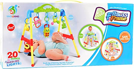 Tokenz Happy Baby Fitness Frame Motor Activity Toys for Kids 3 in 1