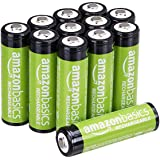 AmazonBasics AA Rechargeable Batteries 2000mAh (12-Pack) Pre-charged