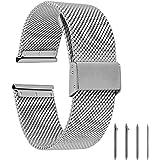 EONPOW Bracelet de Montre en Acier Inoxydable Maille Bracelet de Remplacement 18mm,20mm,22mm