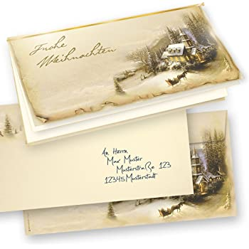 tatmotive 10 er sets weihnachtskarten klappkarten. Black Bedroom Furniture Sets. Home Design Ideas