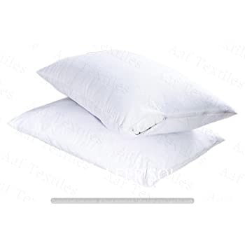Aaf Textiles Waterproof Pillow Protectors Pair Cotton Non Noisy Terry  Towelling 100% Waterproof with Zip 795eb38a0