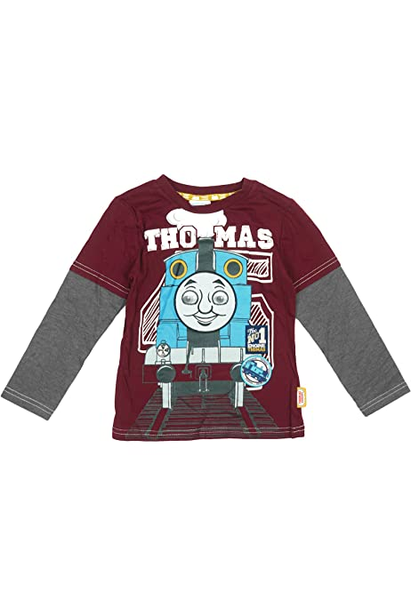 Official Licensed Thomas The Tank Engine Long Sleeve T-Shirt Top Holographic Eyes Age 9 Months-5 Years